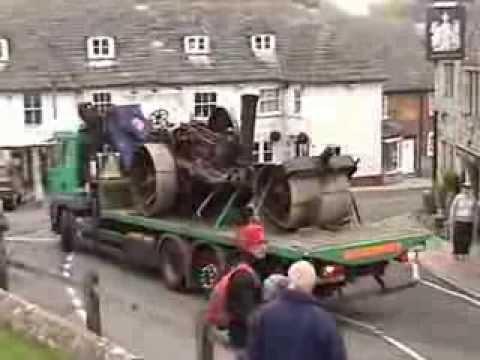 1901 Fowler (Lord Kitchener) steam road roller crash