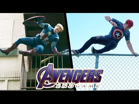 Stunts From Avengers EndGame In Real Life (Marvel, Parkour)