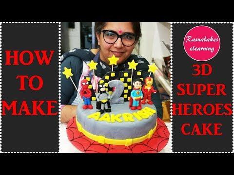 How To Make 3D Superheroes Cake: Cake decorating Tutorial