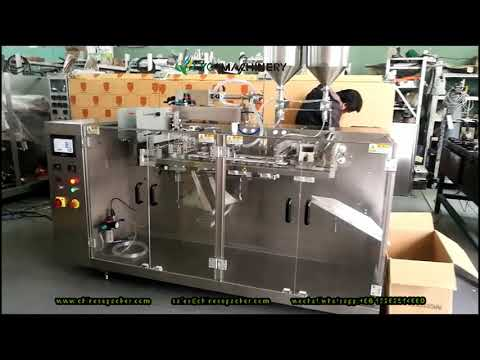 Hffs Machine For Liquid Four Side Seal Horizontal Form Fill Seal Machinery With Piston Pump