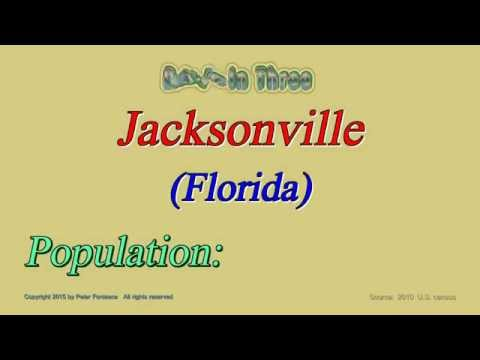 Jacksonville Florida Population in 2010 - Digits in Three