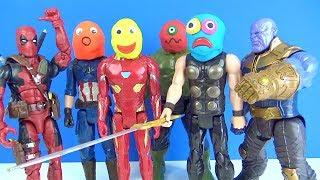 Hangisi Hulk Hangisi Thor? Deadpool ve Thanos hamur kafalar yenilmezler sonsuzluk savaşı oyuncakları