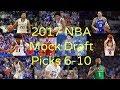 NBA Mock Draft Episode 2 - Picks 6-10