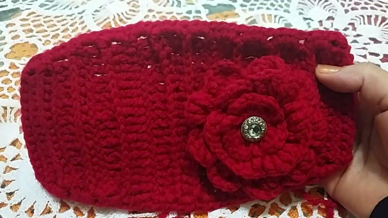 Como tejer diadema con flor en crochet youtube - Diademas a crochet ...