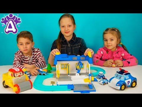 Робокар Поли новые серии Мойка машинок игра распаковка Видео для детей. Robocar Poli game for kids.