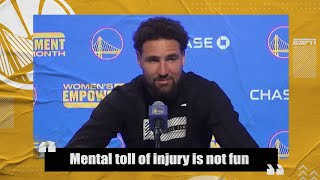 Klay Thompson will not settle for anything less than returning to All-NBA form | NBA on ESPN