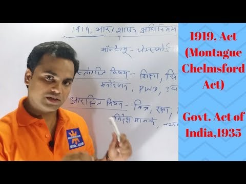 Polity lecture-5, 1919 ACT( Montague Chelmsford Act), Government of India Act 1935