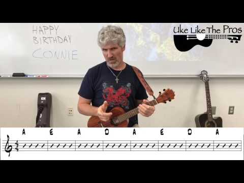 Reggae Ukulele Tutorial Three Little Birds Bob Marley (VERSE)