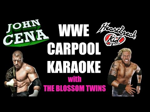 Life is Sweet w/ The Blossom's: WWE CARPOOL KARAOKE!