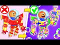 Lion Family Official Channel   Iron Robot №5. Rainbow Bubbles   Cartoon for Kids