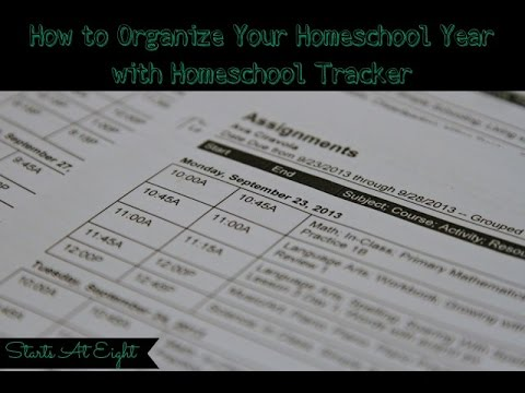 How to Organize Your Homeschool Year with Homeschool Tracker
