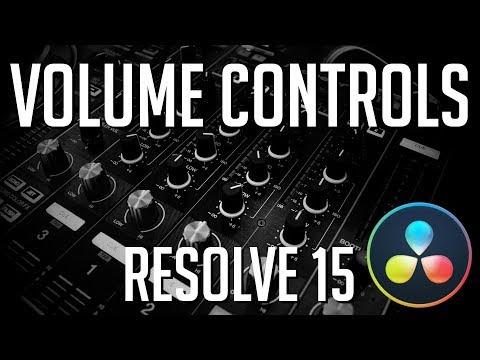 How to Control Audio Volume Levels | DaVinci Resolve 15 Tutorial