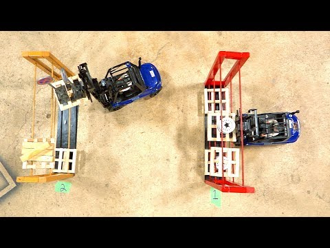 LOADING WARS: FATHER vs SON ORDER PICKERS - FORKLIFT FIGHTS CHALLENGE w/ Funny Ending! |