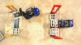 LOADING WARS: FATHER vs SON ORDER PICKERS - FORKLIFT FIGHTS CHALLENGE w/ Funny Ending!