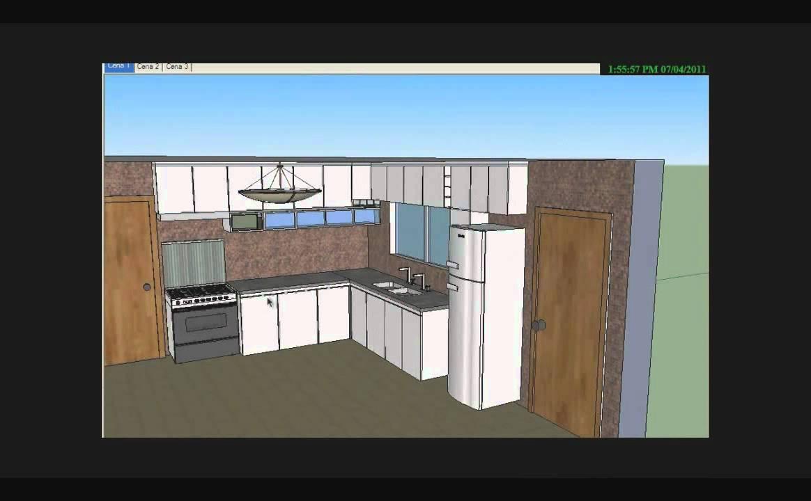 projeto de uma cozinha 1 sketchup e kerkythea youtube