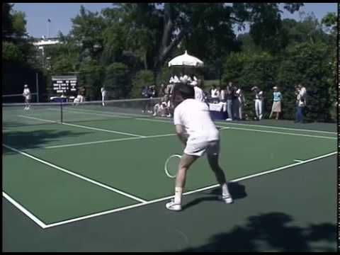White House Tennis Tournament Benefit for Drug Abuse on June 12, 1988