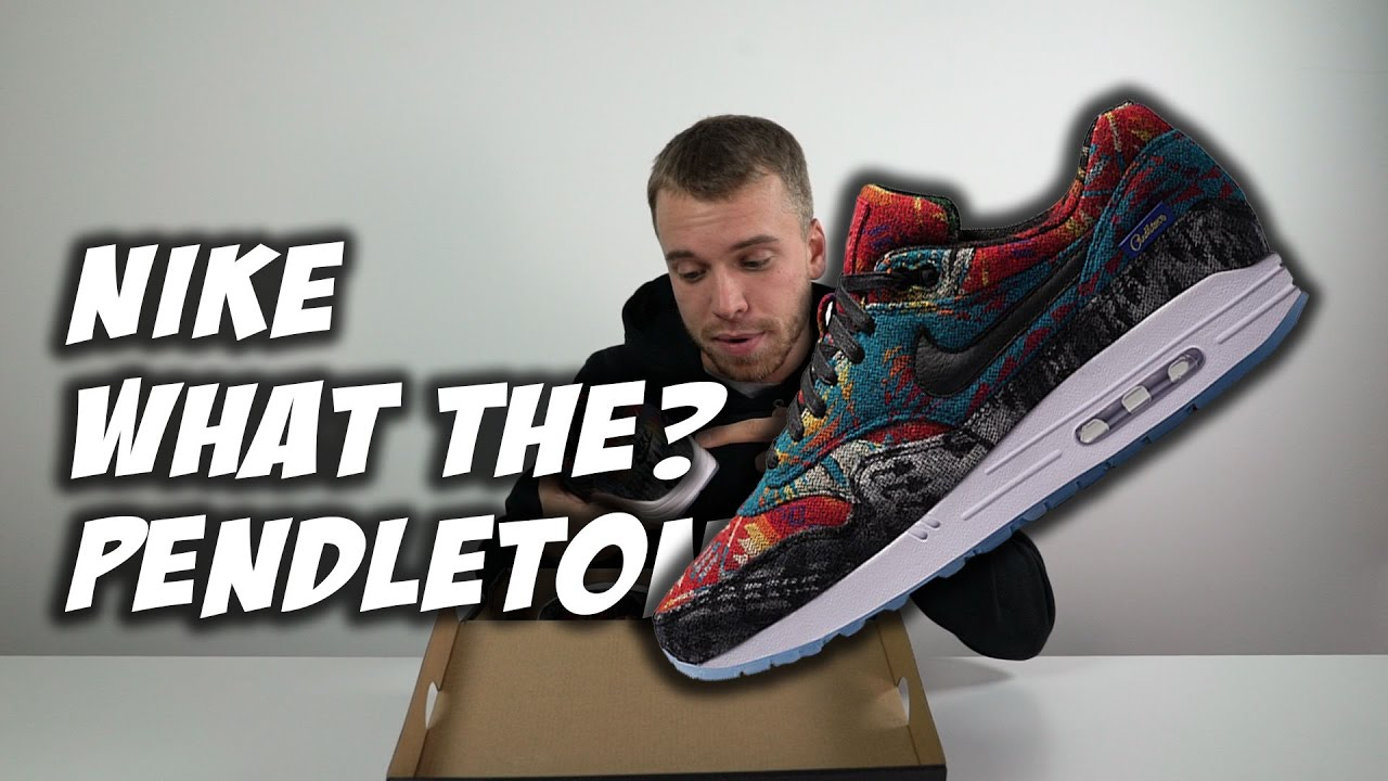 d78b207fd2 What The Pendleton' Nike Air Max 1 Exclusive Unboxing - YouTube