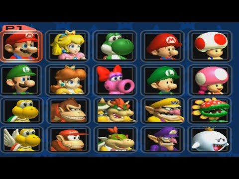 Mario Kart: Double Dash - All Characters