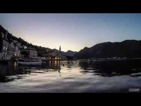 Morning lights at Perast, Montenegro (timelapse)