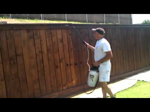 Steps On How To Stain A Fence Mp4