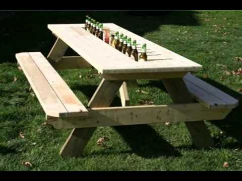 Round picnic table small picnic table folding picnic table - Folding picnic table plans free ...