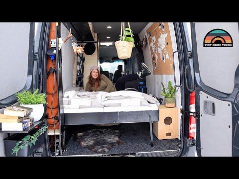 Spacious Sprinter Van W/ Murphy Bed + Toilet & Shower - Tiny House Living