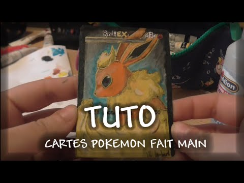 tuto carte pokemon fait main comment realiser une full art youtube. Black Bedroom Furniture Sets. Home Design Ideas