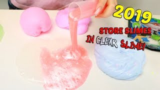 MIXING 2019 SLIMES IN CLEAR SLIME! Slimeatory #527