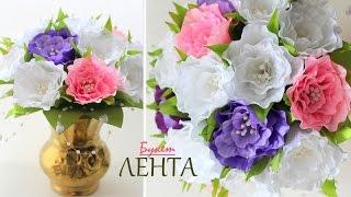 Яркий весенний Букет с Цветами Канзаши / Bright spring bouquet with Flowers kanzashi(Новые мастер- классы на сайте ▷▷▷ http://kanzashidoma.ru/ ⬇Полезная информация под видео⬇ 1.Лепестки в каждом..., 2015-03-31T21:43:23.000Z)