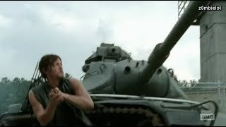 Daryl vs Tank and kills Army guy!