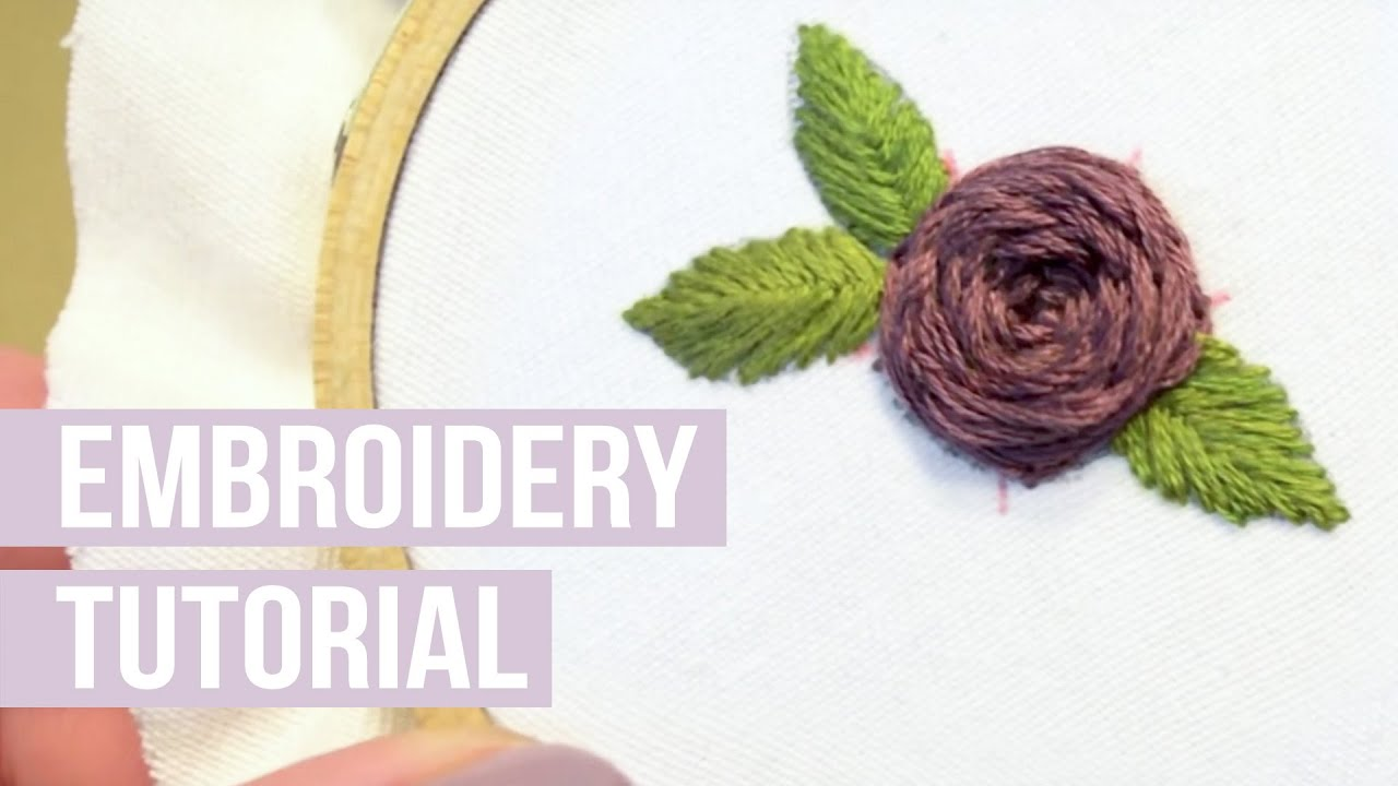 How to embroider a rose youtube