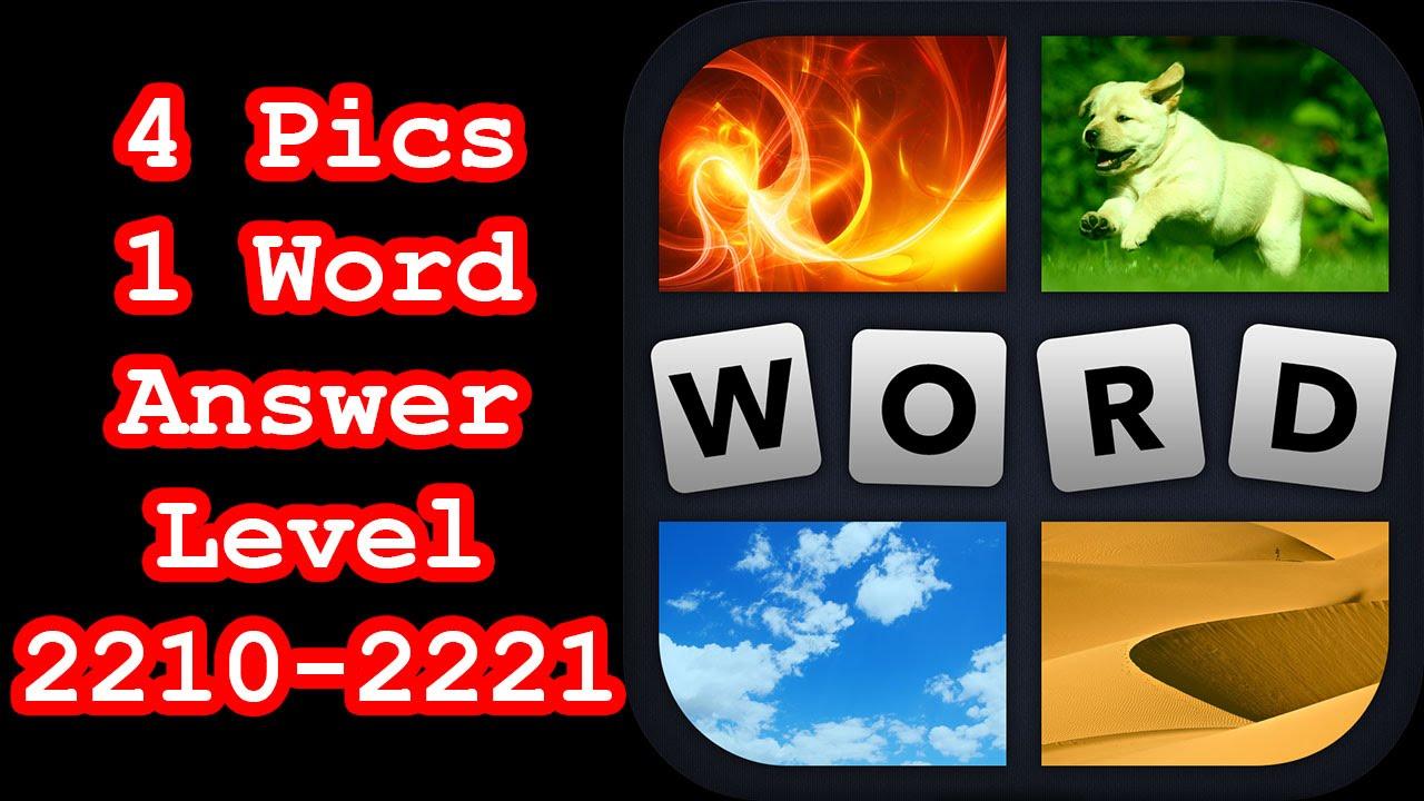 4 Pics 1 Word Level 2210 2221 Hit Level 2222 Answer Youtube