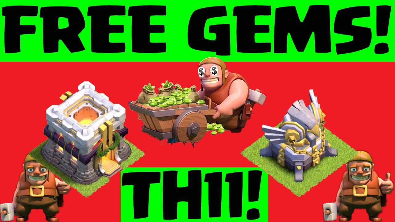 how to get gems in clash of clans without paying