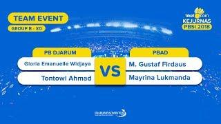 Divisi 1 - Group B | XD | Gloria/Tontowi (PB Djarum) VS Gustaf/Mayrina (PBAD)