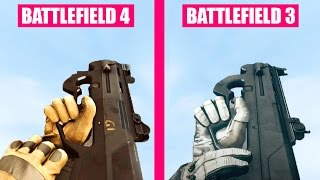 Battlefield 4 Guns Reload Animations vs Battlefield 3