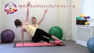 Pilates Workout Exercise: Revolving Plank with Small Ball