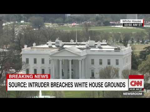 intruder breaches white house!!