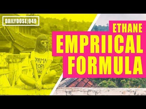 FE EXAM CHEMISTRY - EMPIRICAL FORMULA OF ETHANE | FE EXAM PRACTICE PROBLEM | DAILYDOSE 049