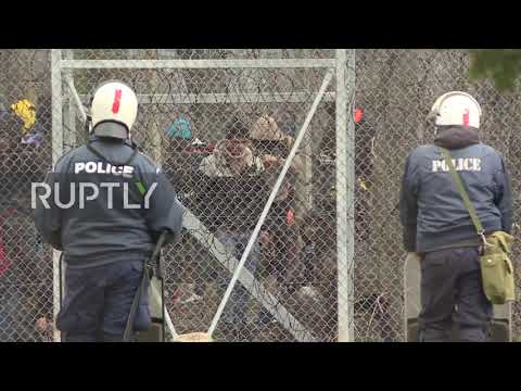 Greece: Heavy police presence at Turkish border as migrants and refugees seek to enter Europe