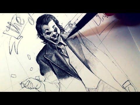 Drawing The Joker Joaquin Phoenix 2019 Version Hd