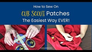 Easy Way to Sew on Cub Scout Patches