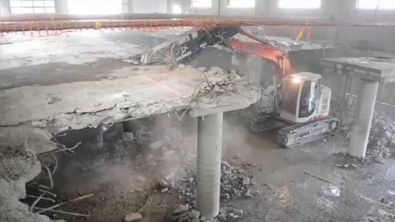 duane wrecking co interior concrete floor demo youtube