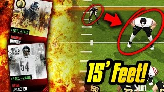 15 FEET TALL PLAYERS! FULL MOST FEARED LINEUP! Madden Mobile Gameplay
