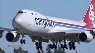 #13 Cargolux LX-VCM Boeing 747-8F Test Flight TakeOff & Landing @ KPAE Paine Field