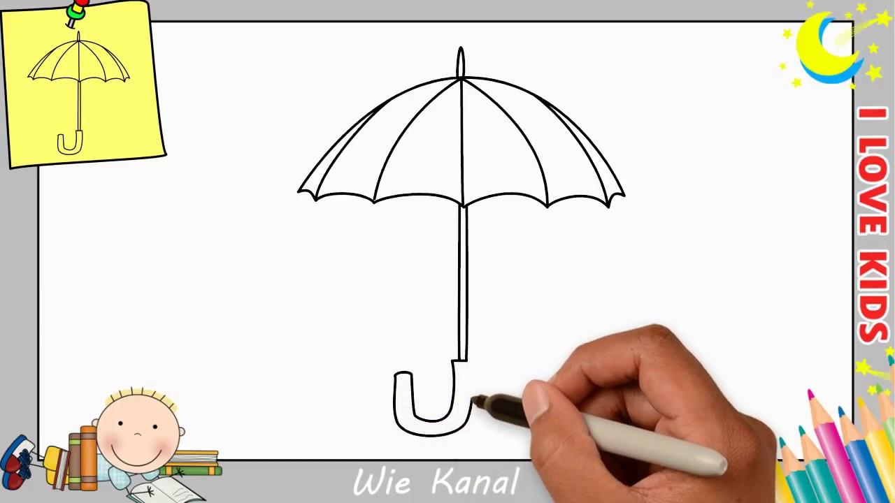 Regenschirm Zeichnen Lernen Einfach Schritt Fur Schritt Fur Anfanger