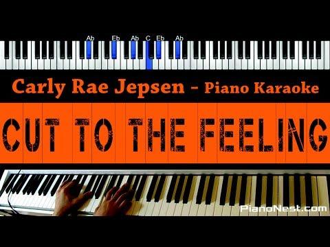 Carly Rae Jepsen - Cut To The Feeling - Piano Karaoke / Sing Along / Cover with Lyrics