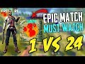 Epic Match 1 Vs 24 Player In Brasilia - Garena Free Fire- Total Gaming