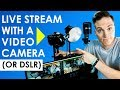 How to Live Stream with a Video Camera o