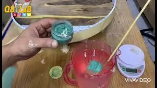 صناعة طاولة دائرية ب استخدام الأخشاب والريزن