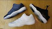 8c3dd788e981b7 Authentic Air Jordan 11s Blue Moon GS Review from Dopekickz23 - YouTube
